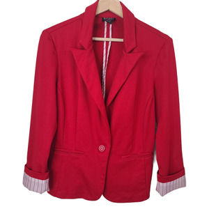 Soho Apparel Blazer Jacket Red Casual Work Career
